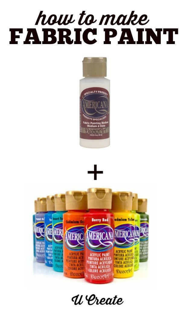 Can You Get Acrylic Paint Out Of Clothes How To Make Your Own Fabric Paint U Create Fabric Painting Fabric Paint How To Dye Fabric
