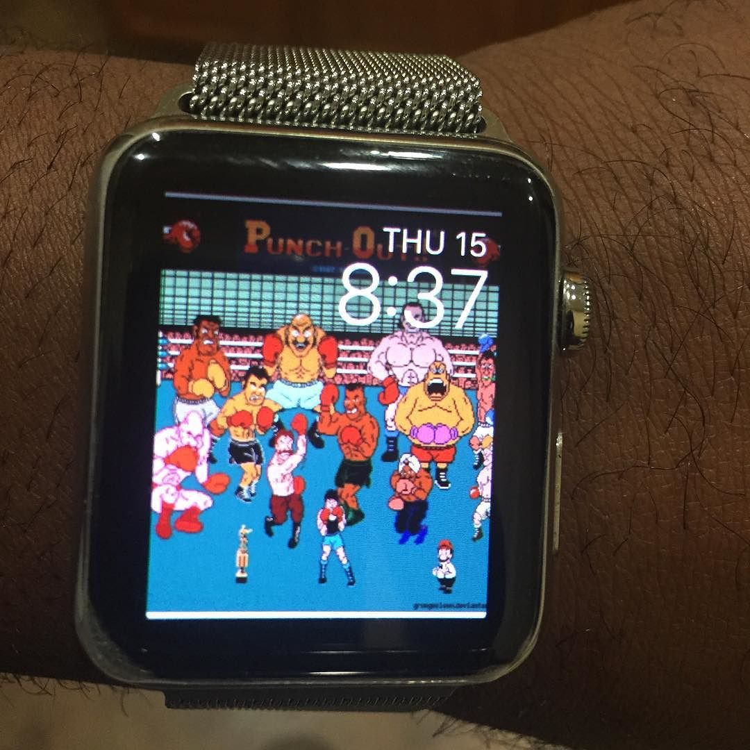 My watch face better then yours. applewatch punchout by
