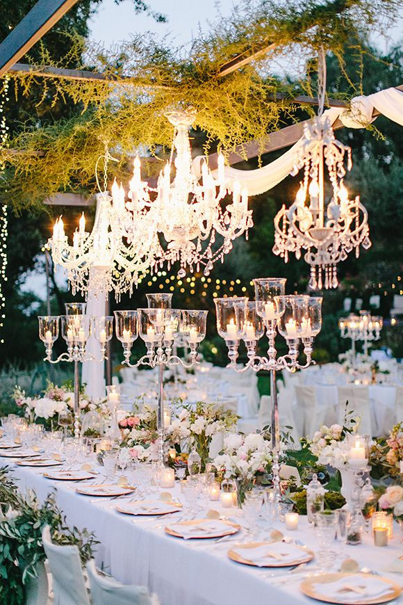 Garden weddings and floral ideas love pinterest fairytale fairytale wedding princess wedding chandelier centerpieces aloadofball Images
