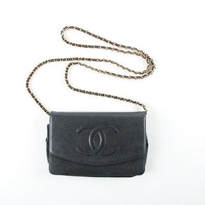 07396b0408cb Chanel Timeless CC Navy Caviar Leather Wallet on Chain Bag   Fashion ...