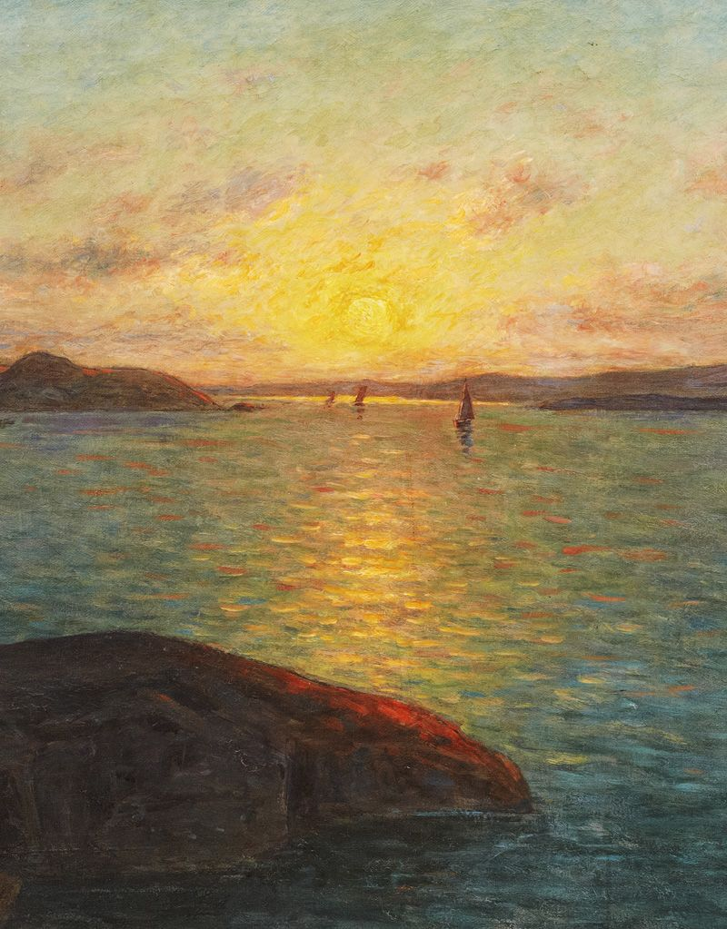 Per Ekström. Detail from Sunset, 19th Century. | Mural painting ...