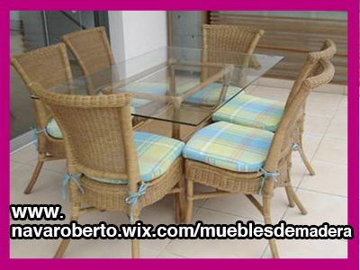 Muebles de Madera de Pino, Rattán, Mimbre, fabricados artesanalmente ...