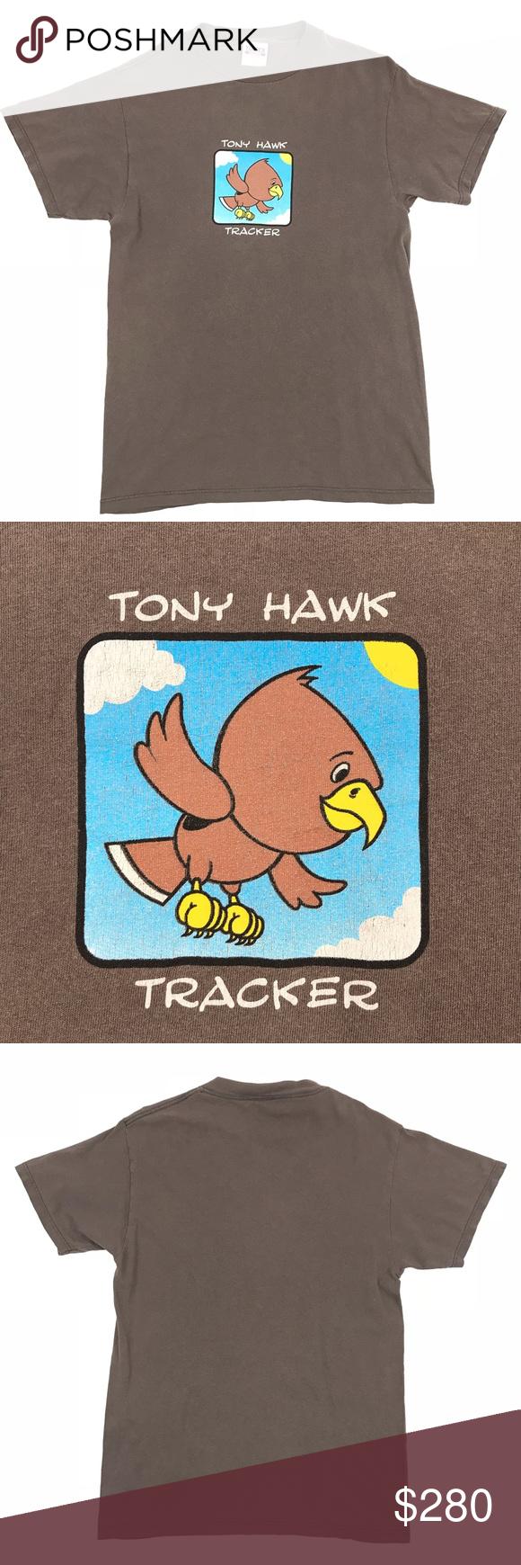 Vintage 90's Tony Hawk Tracker Trucks Tee Brand: Tracker ...