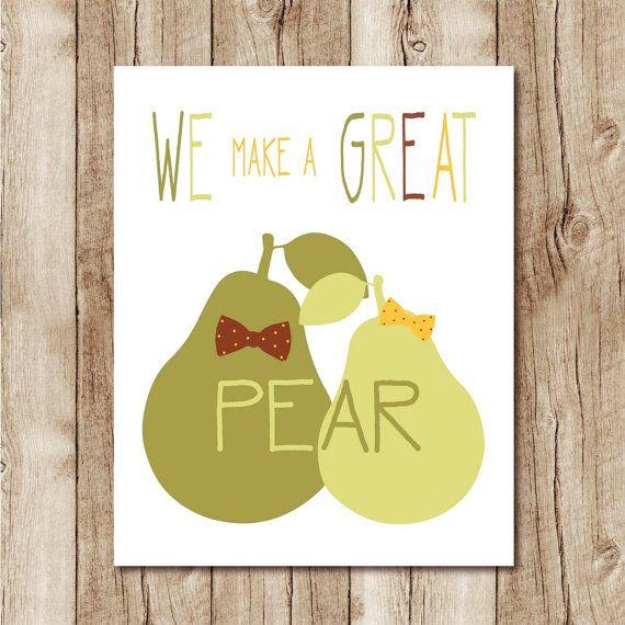 cute valentine card PRINTABLE download jpg we make a great pear ...