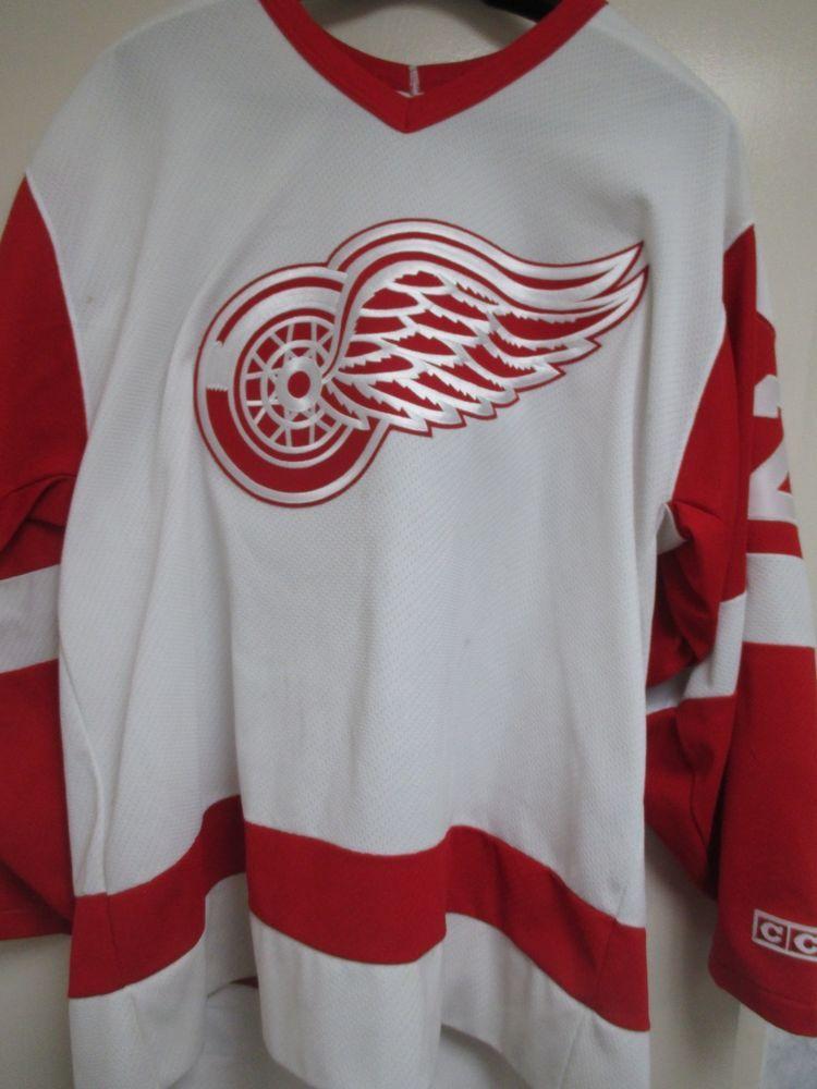 7c6f57c392d Vintage Darren McCarty Detroit Red Wings CCM Large L Hockey Jersey  25 NHL  White