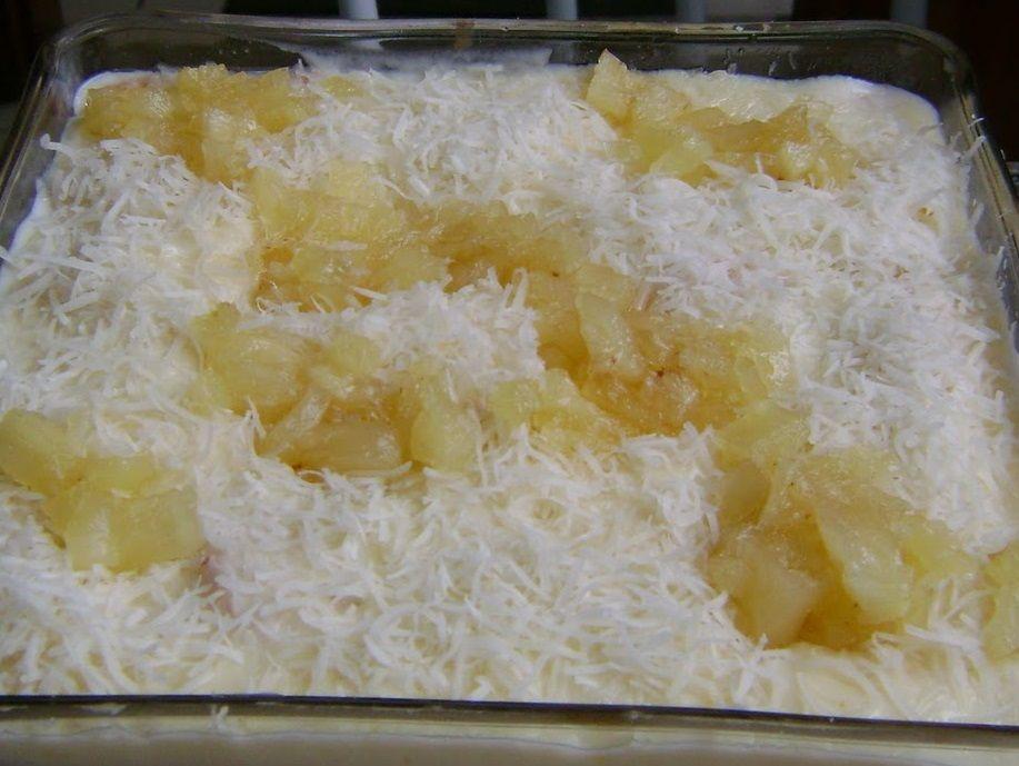 Pavê de abacaxi de microondas | Receitas de Bolos e Tortas, Doces e Sobremesas, Lanches | TUDO GOSTOSO!