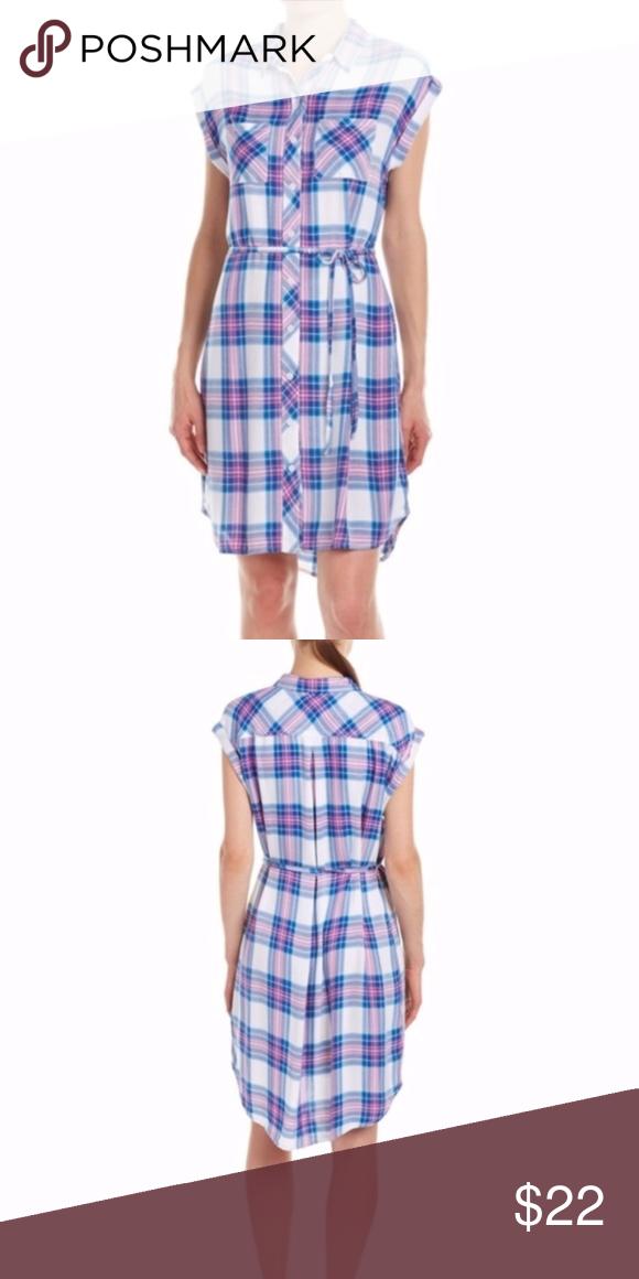 bb240c2772e62 Nessa Watermelon Plaid Shirt Dress A beautiful and classic shirt dress from  Beach Lunch Lounge.