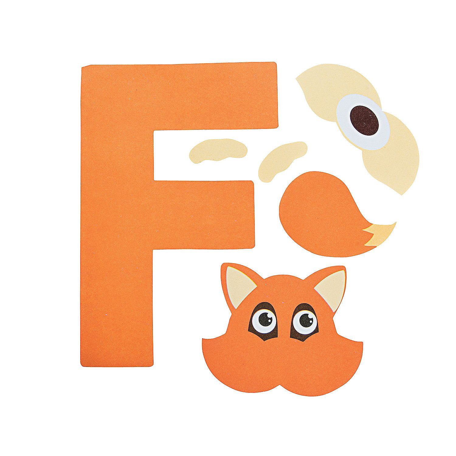 F is for fox letter f craft kit oriental trading for F crafts for toddlers