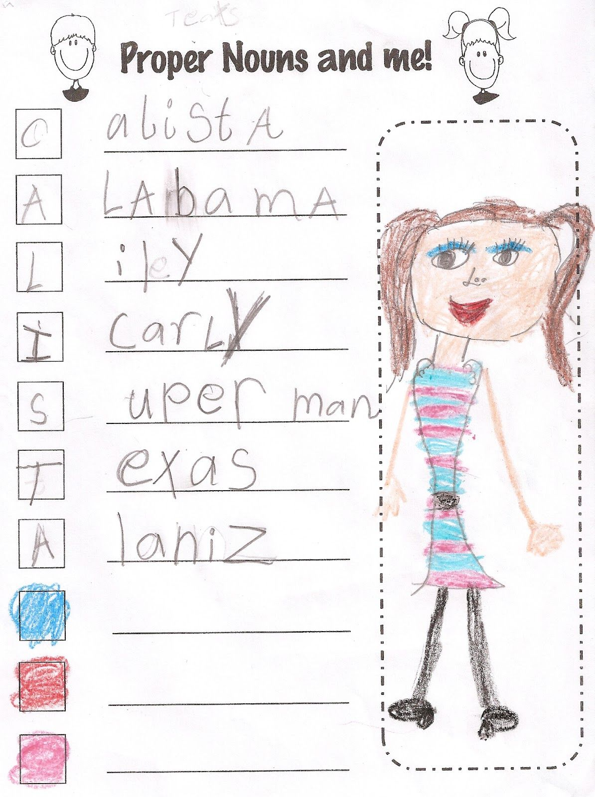 Totally Terrific In Texas Proper Nouns And Me Precious Acrostic Poem