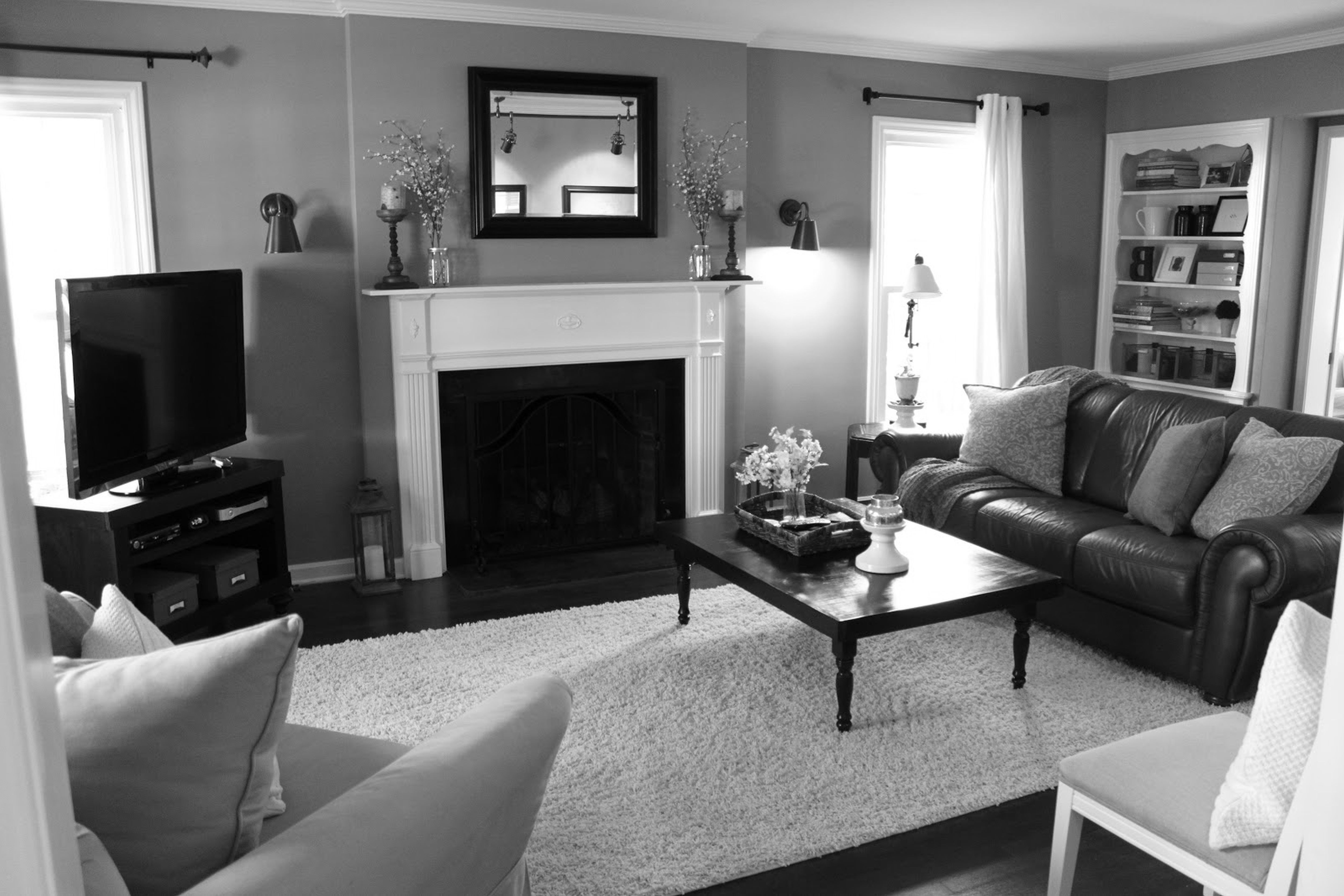 Black White And Gray Living Room Ideas