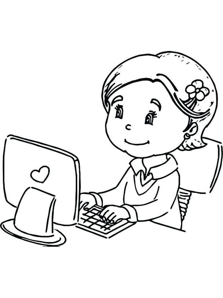 Computer Coloring Pages Free Who Doesn T Know A Computer Almost Everyone Has A Computer In Their Home Coloring Pages Cool Coloring Pages Free Coloring Sheets