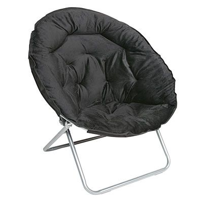 Oversized Saucer Chair, Black At Big Lots. In Store Clearance $19
