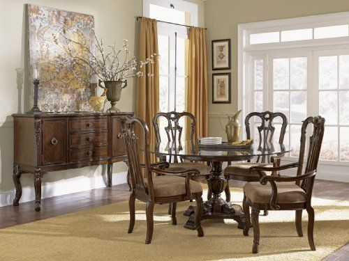 Ayrshire Court Single Pedestal Dining Room Setfairmont Designs Captivating Single Dining Room Chairs Inspiration Design