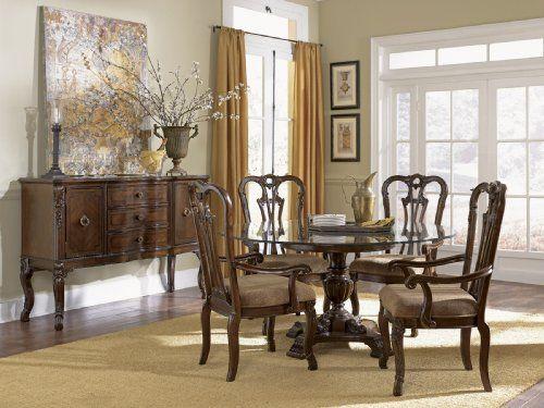 Ayrshire Court Single Pedestal Dining Room Setfairmont Designs Captivating Single Dining Room Chairs Inspiration Design