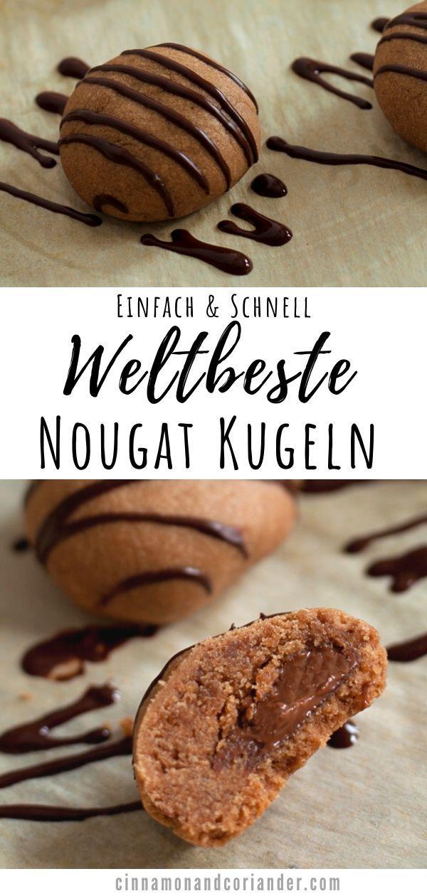 Nougat Kugeln  die besten Nougat Plätzchen Diese feinen Nougat Kugeln sind schnell und einfach gemacht und schmecken einfach himmlisch Eine Prise Zimt Chili und Kard...