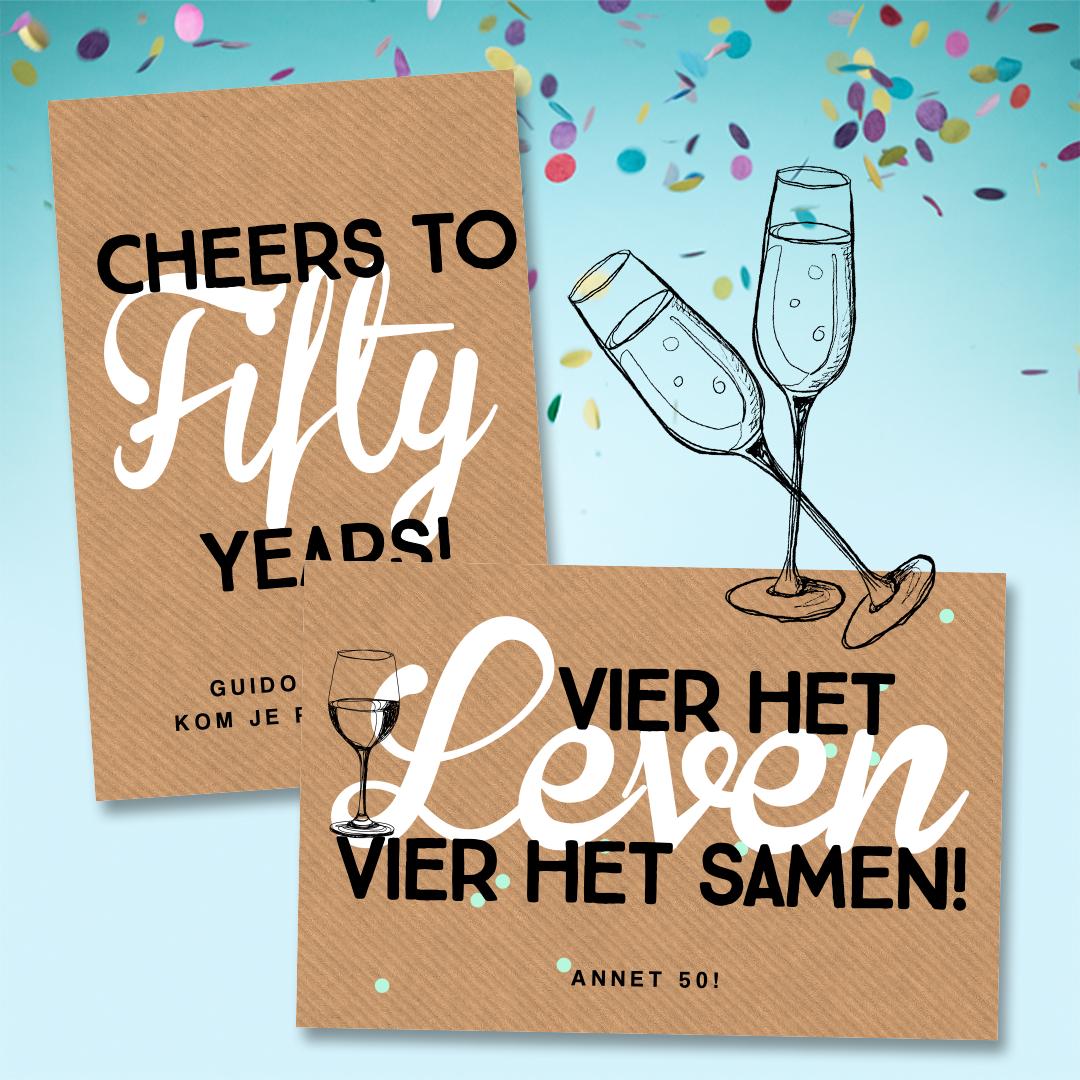 Vaak 50 jaar verjaardag uitnodiging! Vier het leven vier het samen &IQ15