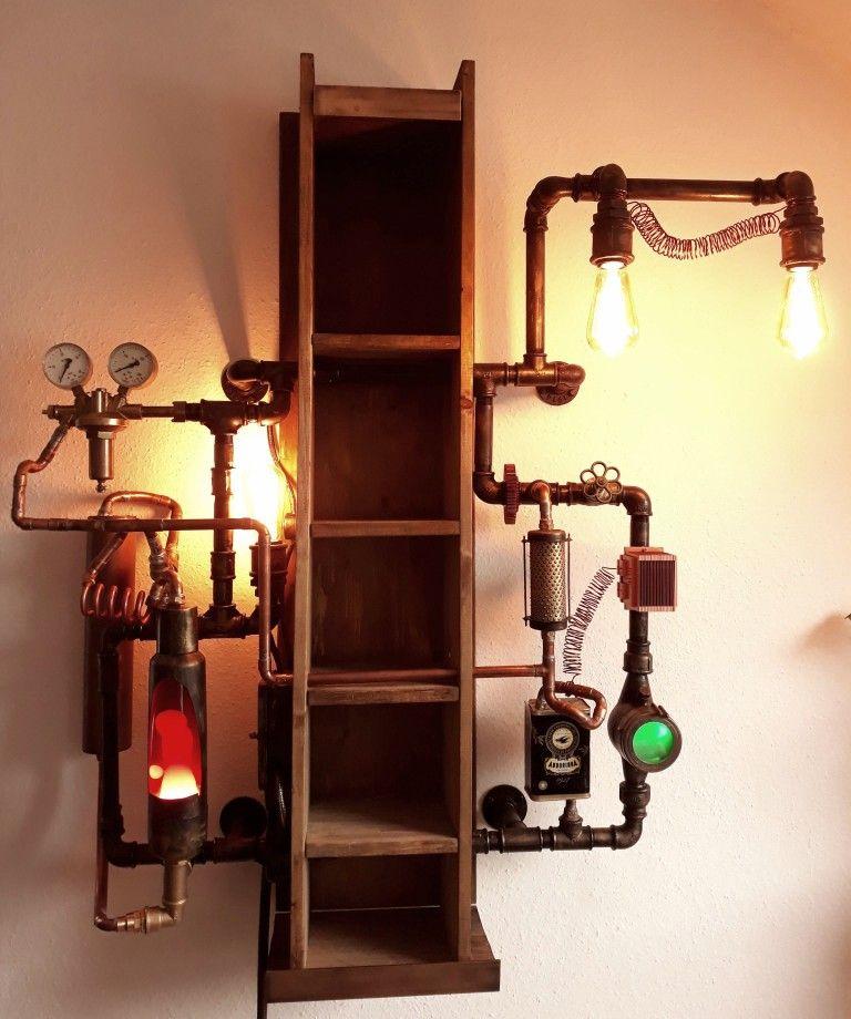 Steampunk Industrial Shelf by  DeBe