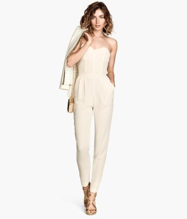 2a01b797593 H M Strapless Jumpsuit - Natural White
