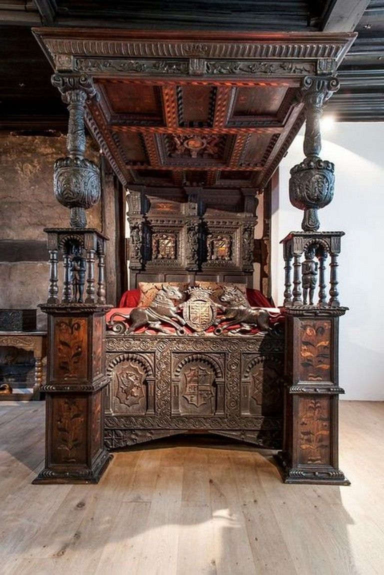 22+ Stunning Modern Gothic Bedroom Design Decorating Ideas ...
