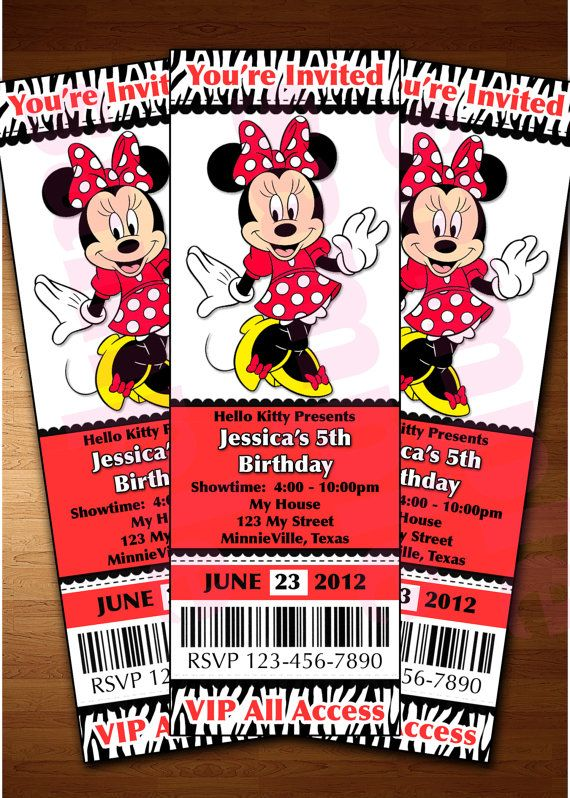 Mickey Mouse Ticket Invitation Printable Diy By Perfectpartyparade