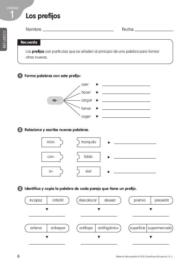 Refuerzo lengua 4º de primaria | cuarto grado | Pinterest | Lengua ...