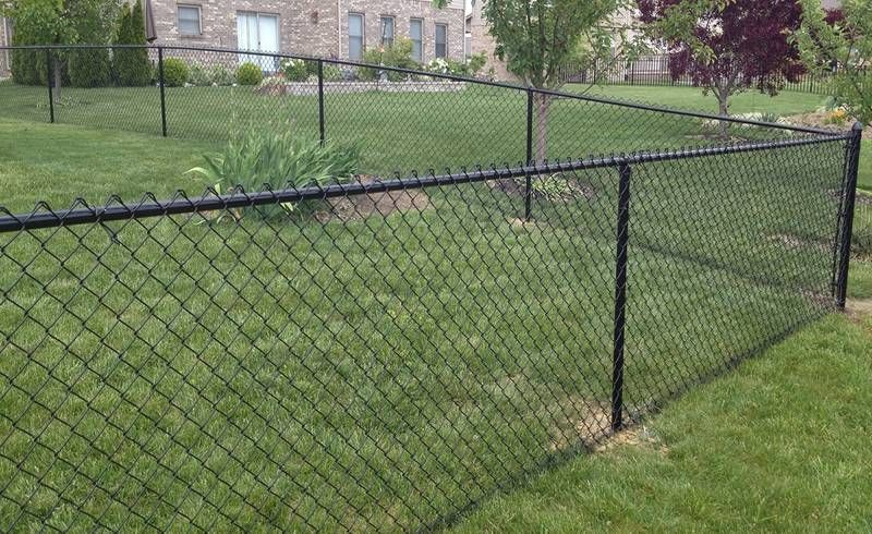 Chain Link Fence Company Winnipeg In 2020 Black Chain Link Fence Chain Link Fence Installation Chain Link Fence