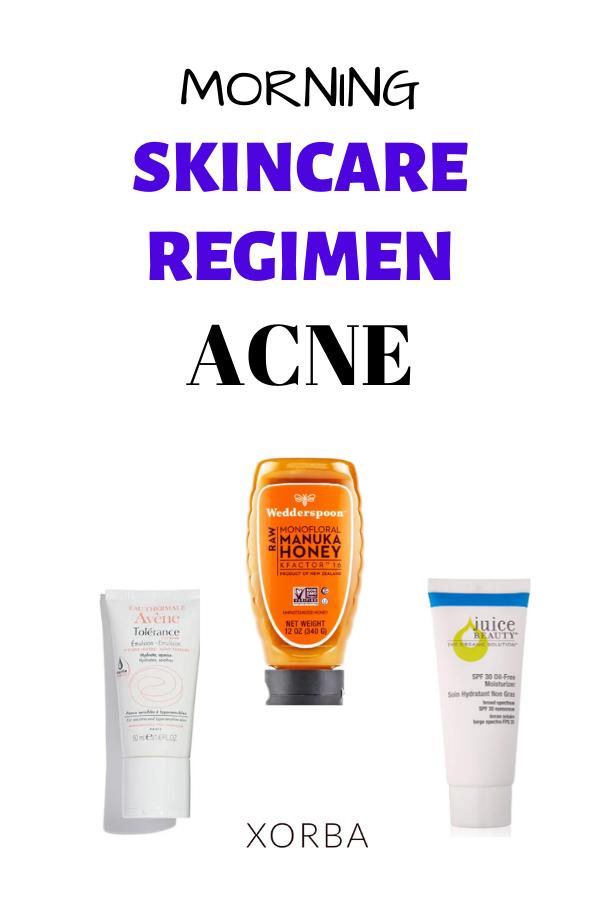 Acne Skincare Regimen Morning Sometimes Simple Is Better In 2020 Skin Care Acne Skin Care Regimen Best Acne Treatment