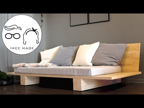 Simple Diy Lounge Sofa Made With Plywood Youtube In 2020 Diy Sofa Simple Sofa Outdoor Sofa Diy