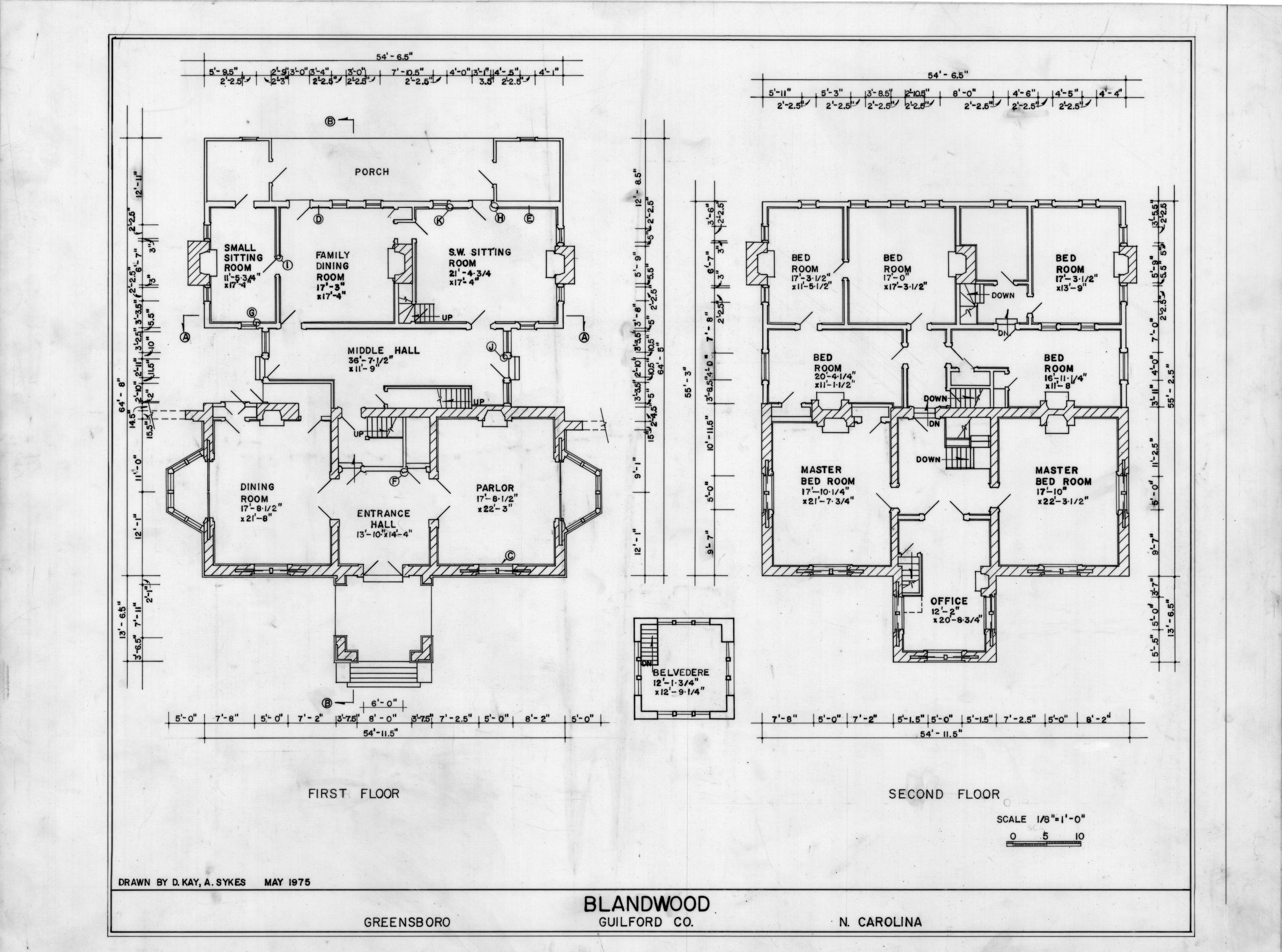 Floor Plans Blandwood Greensboro North Carolina Historical House Plans Farmhouse Floor Plans House Floor Plans