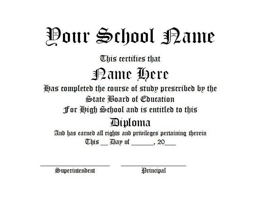 Diploma Free Word Templates Customizable Wording Ged Templates