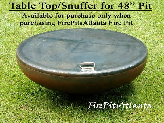 Steel Fire Pit Table Top For 48 Fire Pit Shipped With Etsy Fire Pit Table Top Metal Fire Pit Fire Pit Table