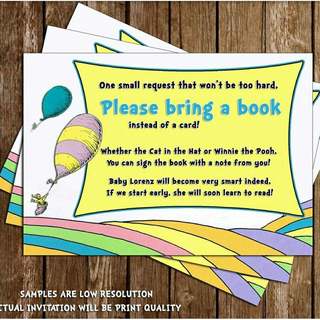 Instead of bringing a birthday card, please bring a book ...