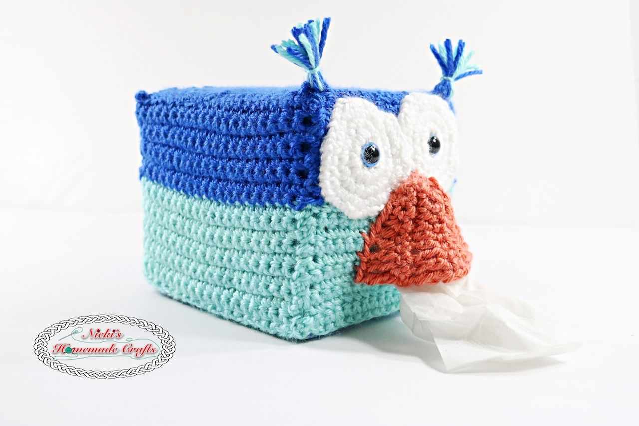 Owl Tissue Box Cover - Free Crochet Pattern by Nicki\'s Homemade ...
