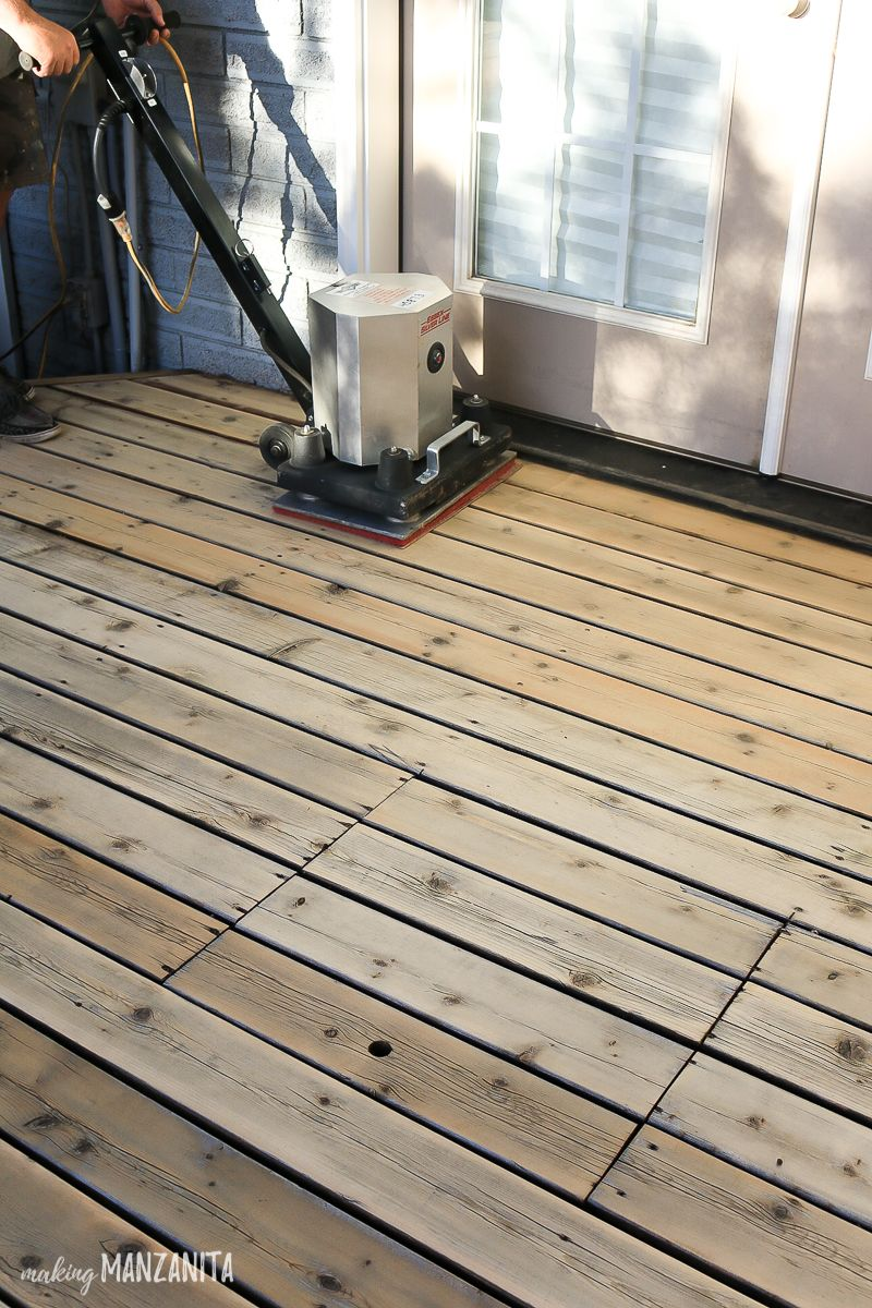 How To Restore A Deck That Has Been Neglected With Images Diy