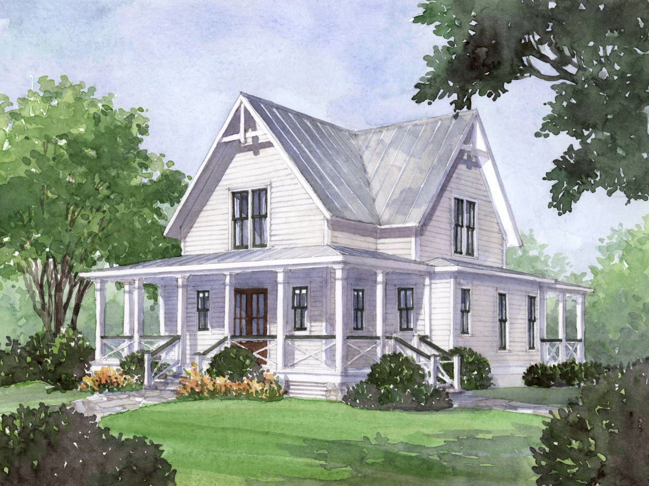 House Plan Of The Month Four Gables Gable House Southern Living House Plans House Plans Farmhouse