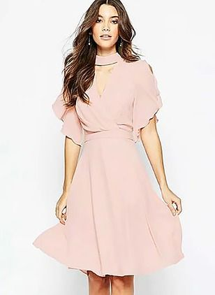 Pale Pink Casual Dresses