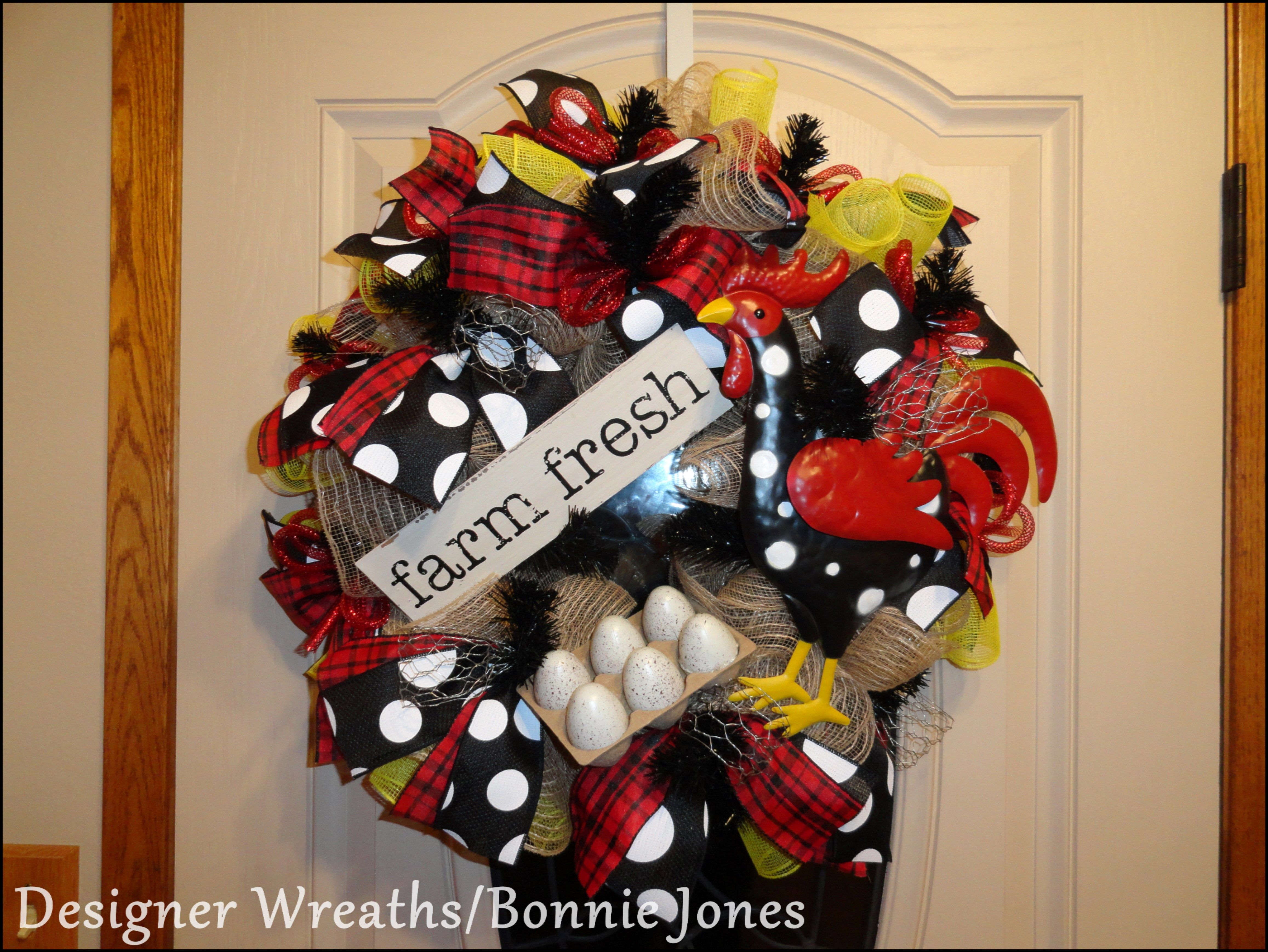 """FARM FRESH EGGS"" Spring wreath, Christmas wreaths"