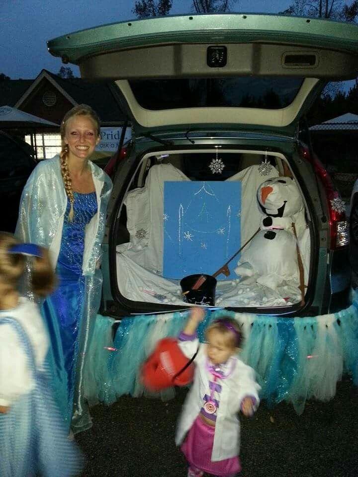 Elsa  Frozen Trunk or Treat Halloween Decorations Pinterest - frozen halloween decorations