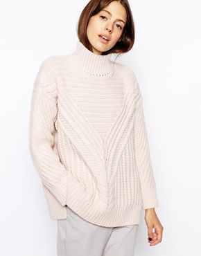You need an oversize, chunky winter white sweater for the as this ...