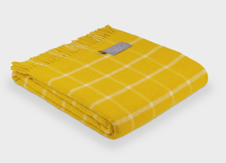 8df18ea10c Sunflower Yellow Grid Check Throw - The British Blanket Company ...