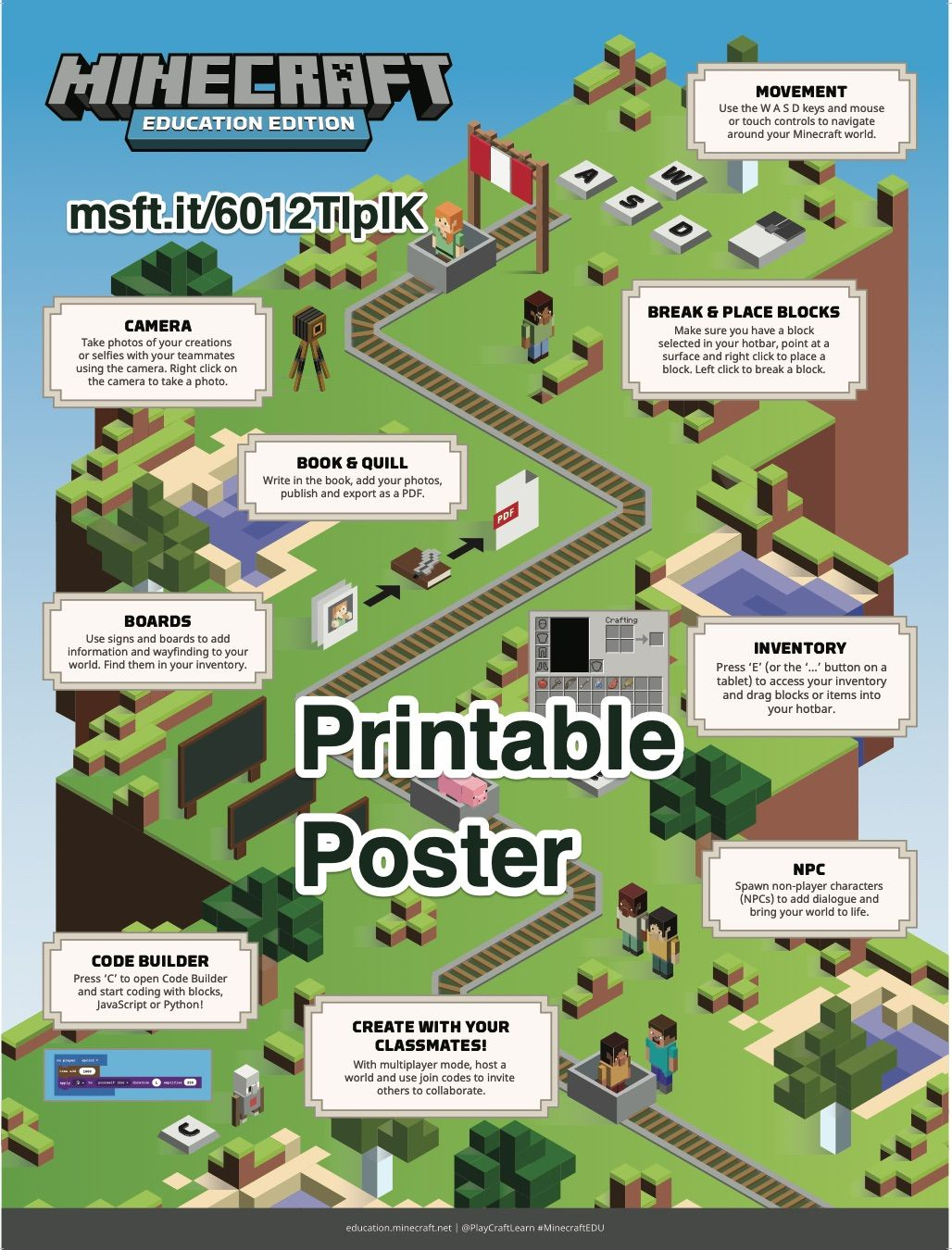 Minecraft Education Printable Poster Istruzione