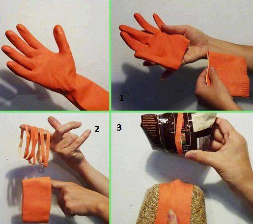 Que faire avec de vieux gants de m nage tx maison guantes guantes de cocina et reciclado - Astuce maison propre ...