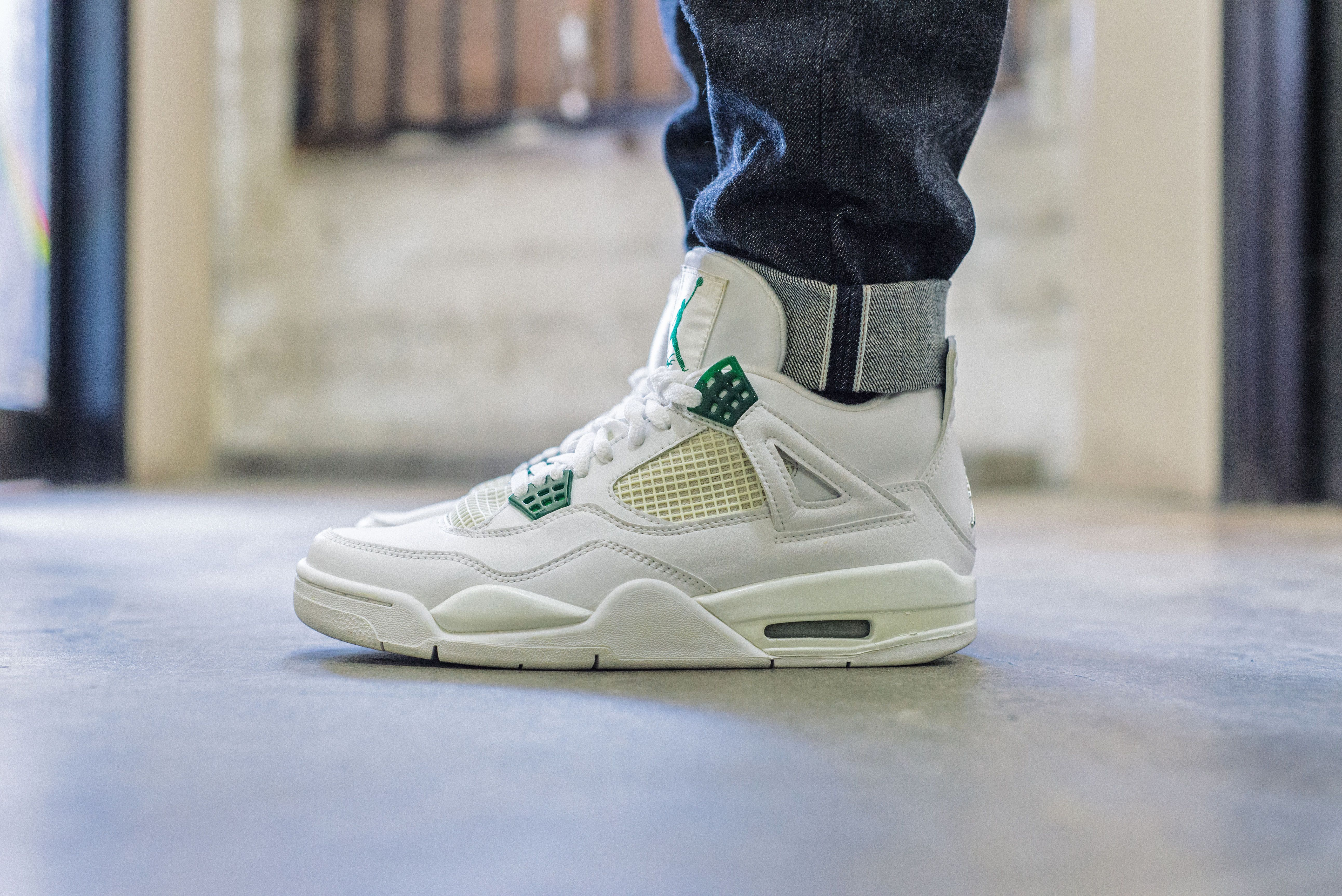 On Foot Look Tbt Edition Air Jordan 4 Classic Green With