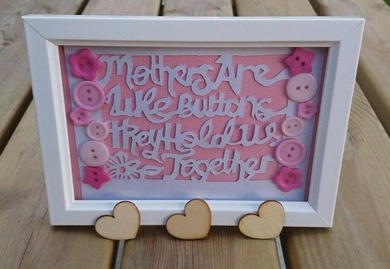 Original Paper cut Design 6x4 framed for Mothers day etc. A unique Personalised Gift for Mum mother #mumsetc