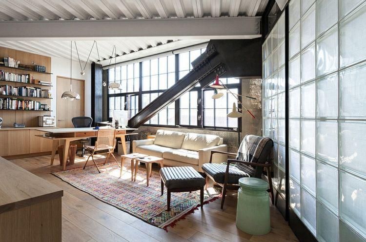innenarchitektur industriellen stil karakoy loft, home office im industriellen stil u2013 15 ideen mit modernem flair, Design ideen