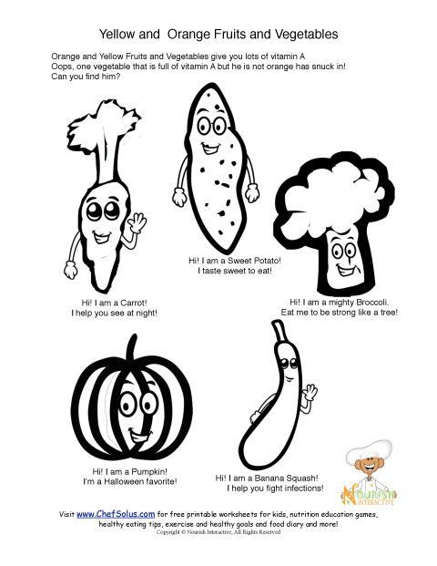 Fun Food Characters Coloring Sheet That Promote Foods