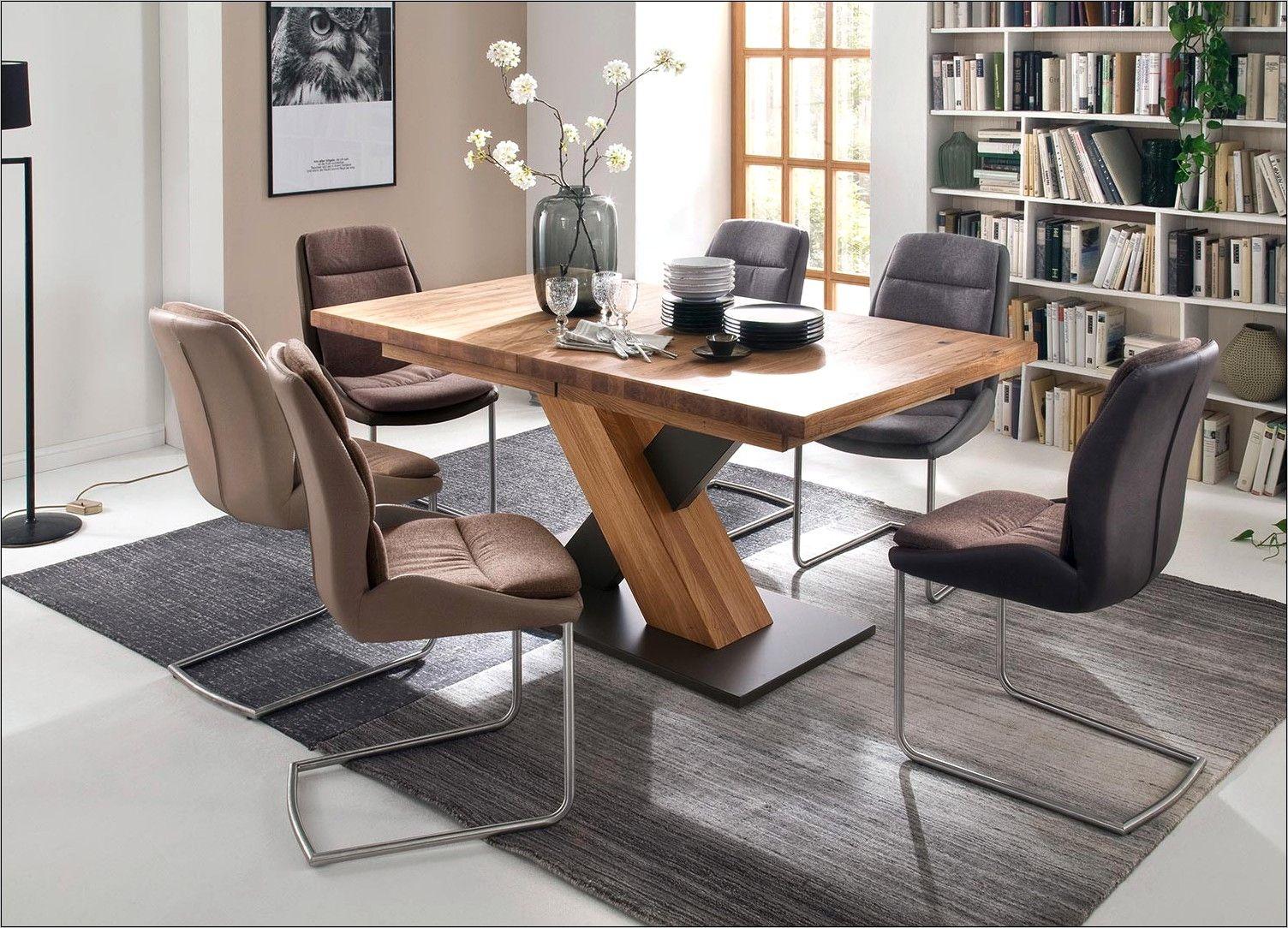 table ronde extensible de salle a manger moderne 12