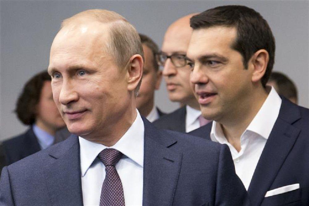 JornalQ.com - Tsipras e Putin fecham acordo de 2.000 milhões de euros