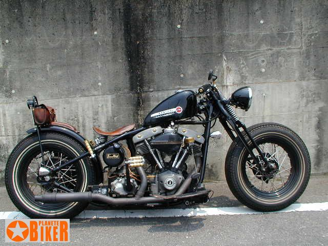 shovelhead cone bobber with springer frontend | motorcycles