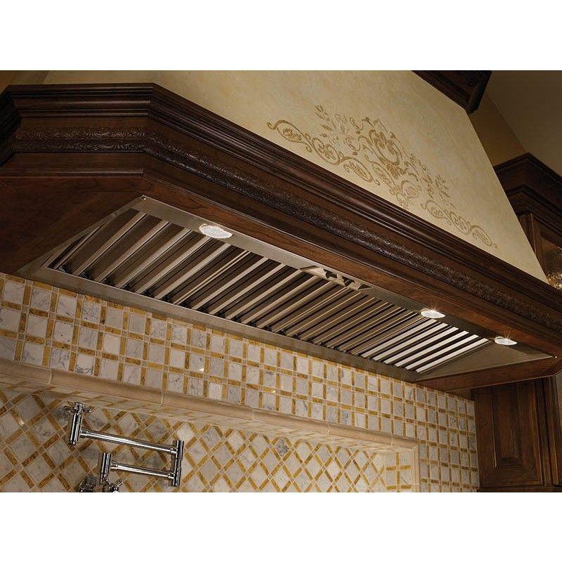 Wolf Pl342212 36 Stainless Steel Pro Hood Liner 22 Deep Halogen Lighting Indoor Ventilation House Layouts